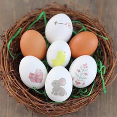 Make cute, easy Easter eggs using eHow's free, printable printable designs and some  printable tattoo paper.