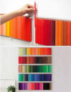 pencil wall DIY- Eleanor would love