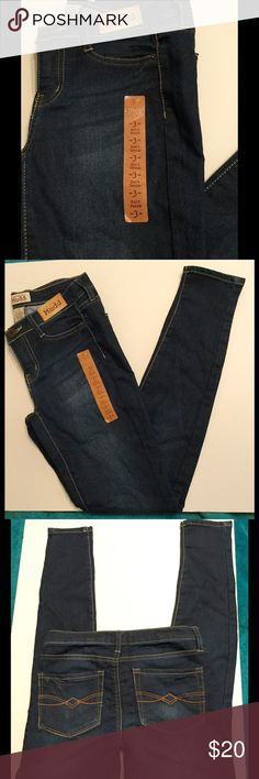 Mudd Knit Denim Jeans Dark wash, knit denim jeans. Soft and stretchy, with super skinny fit. Never been worn, new with tags! Mudd Jeans Skinny