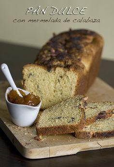 Pan dulce con mermelada de calabaza