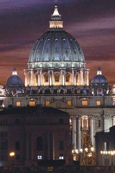 St Peters Basilica, Rome, Italy. italia, church, rome italy, st peter, peter basilica, travel, place