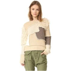 Scotch & Soda/Maison Scotch Cool Patchwork Sweater ($185) ❤ liked on Polyvore featuring tops, sweaters, ivory multi, ivory top, color block sweater, maison scotch sweater, color block tops and fur sweater