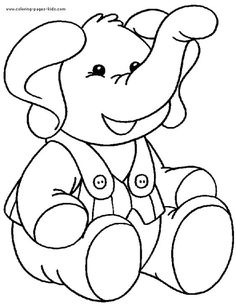 Elephant with clothing color page. Animal coloring pages. Coloring pages for kids. Thousands of free printable coloring pages for kids! Elephant Coloring Page, Animal Coloring Pages, Coloring Book Pages, Coloring Sheets, Elephant Template, Animal Templates, Templates Free, Elephant Colour, Free Printable Coloring Pages