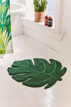 Monstera Leaf Bath Mat | Urban Outfitters