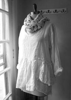 Linen Shirt / ' Maia' Shirt / Lagenlook by BreatheAgainClothing