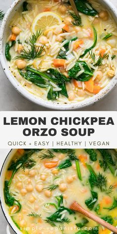Veggie Recipes, Whole Food Recipes, Cooking Recipes, Healthy Recipes, Orzo Recipes, Salad Recipes, Healthy Soups, Simple Soup Recipes, Recipes With Dill
