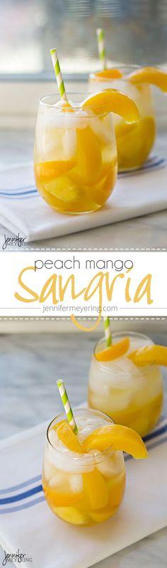 Peach Mango Sangria | JenniferMeyering.com