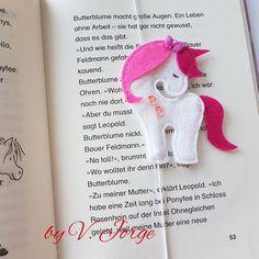 Unicorn bookmark Felt Bookmark unicorn
