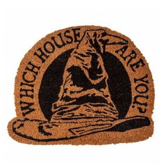 The only way for a true Harry Potter fan to greet their guests... the Hogwarts Sorting Hat Door Mat!  Durable coconut brush door mat is beautifully crafted in a unique shape, and printed with the silhouette of the Sorting Hat!  #harrypotter #hogwarts #home #decor #interiors #newhome #doorway #love #afterpay #onlineshopping #littlebooteekau...