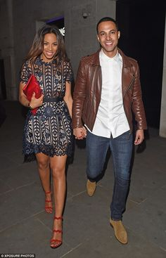 Birthday surprise: Rochelle Humes felt it was only right to celebrate her husband Marvin H...