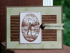 Great-looking masculine card using a Thonas Kinkade stamp and a Flourishes sentiment!  tracimajor.blogspot.com