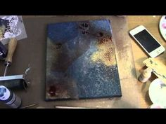 "▶ Mixed Media Canvas ""Take Flight"" (start to finish) - YouTube. I want to do this. Amazing!!!"