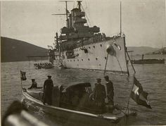 23 Feb. 1916 - Inspection of the armored cruiser S.M.S. Sankt Georg of the Austro-Hungarian Navy.