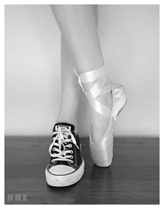 ballet photography point shoe converse Photoshoot mmx photography black and white More