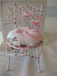 pink chair cushion