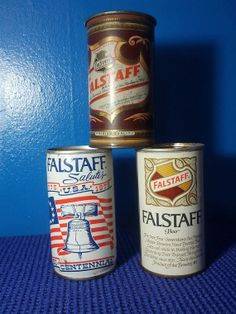 Set of 3 Falstaff Beer Cans Vintage by EclecticQuirks on Etsy, $20.00