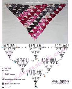 Crochet Amigurumi - How to Crochet a Headband Crochet Shawl Diagram, Poncho Au Crochet, Crochet Stitches Chart, Crochet Motifs, Crochet Scarves, Crochet Clothes, Free Crochet, Crochet Baby, Knit Crochet