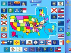 50 flags and seals of the United States HD iPad game will use a very easy way to learn the flags and seals of the United States.