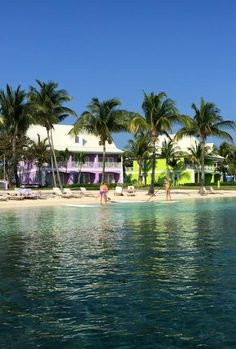 All new bright, tropical colors of Old Bahama Bay (West End, Grand Bahama Island)