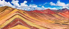 Renkler doğanın gülüşüdür. ~Leigh Hunt Fotoğraf: Gökkuşağı Dağları, Cusco, Peru.