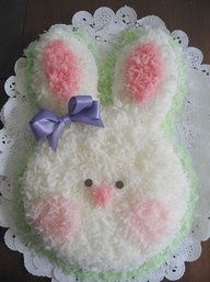 coconut easter bunny cake