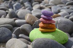 Ometto di pietre zen