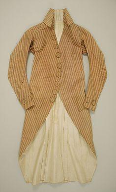 mens coat. french circa 1780-1789.  silk the met