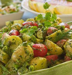 Fransk potatissallad med örtblandning - Mitt kök