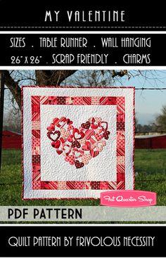 My Valentine Downloadable PDF Table Topper Pattern Frivolous Necessity