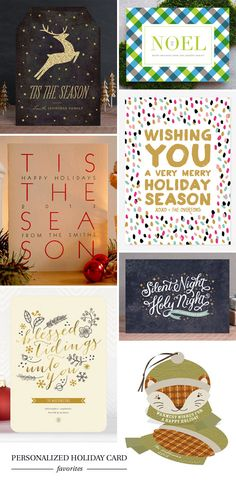 Personalized Holiday Card Favorites
