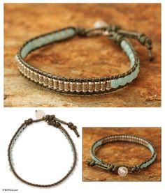 UNICEF Market   Amazonite and quartz beaded bracelet - Hill Tribe Memory