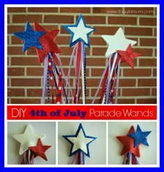 10 Fourth of July Crafts for Kids - Housewife Eclectic 4th July Crafts, Fourth Of July Crafts For Kids, Crafts For Teens To Make, Patriotic Crafts, Patriotic Decorations, Birthday Decorations, Toddler Crafts, Preschool Crafts, Kids Crafts
