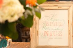 Custom girl baby shower signage by HH Design House
