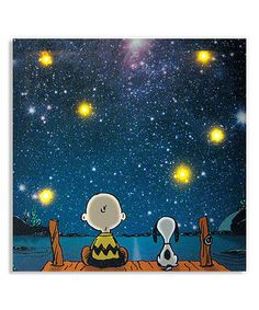 Look what I found on #zulily! Star Gazing Lighted Canvas by Peanuts by Charles Schulz, $17 !!  #zulilyfinds