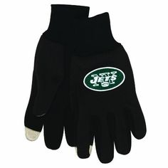 NFL New York Jets Technology Touch Gloves by WinCraft. Save 60 Off!. $13.18. Officially licensed technology gloves. Use your touchscreen device without removing your gloves! Special touch reactive material on thumb and forefinger sends electrical impulses to any touchscreen device. For use with tablet and smartphone devices.