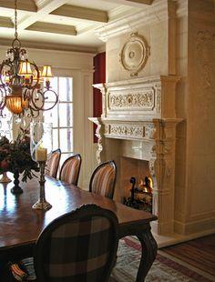 Bordeaux Mantel with Overmantel - traditional - dining room - toronto - Tartaruga Design inc.