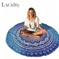 Ocean Bohemia Round Beach Towel Dorm Mandala Tapestry Indian Mandala Table Cloth yoga mat blanket for summer camping LC42056 #clothing,#shoes,#jewelry,#women,#men,#hats,#watches,#belts,#fashion,#style