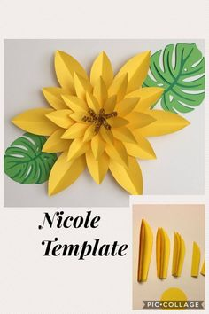 Fantastic diy flowers information are available on our web pages. Have a look and you wont be sorry you did. Paper Flowers Craft, Giant Paper Flowers, Paper Roses, Flower Crafts, Diy Flowers, Paper Crafts, Crafts For Teens To Make, Diy And Crafts, Flower Template