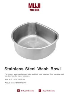 Muji stainless steel wash bowl. #MUJIkitchen