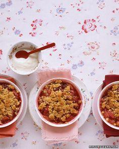 Rhubarb-Berry Crumbles Recipe