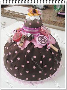Cobre Bolo Cup Cake - Sibele