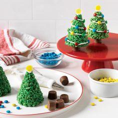 Marshmallow-Krispie Christmas Trees   | MyRecipes