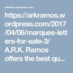 https://arkramos.wordpress.com/2017/04/06/marquee-letters-for-sale-3/  A.R.K. Ramos offers the best quality, value and customer service for ada signage, wall plaques, plaques, custom wall plaques, engraved plaques, metal letters, large metal letters, etc. in Oklahoma City. Call us at our toll free +1 800 725 7266 now.