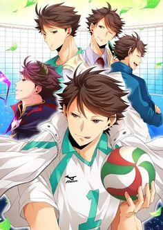 Kuroo Tetsurou, Akaashi Keiji, Iwaoi, Kagehina, Haikyuu Fanart, Haikyuu Anime, Cute Anime Boy, Hot Anime Guys, Tsukkiyama