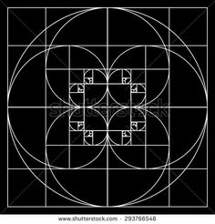 Golden ratio patterns - stock vector