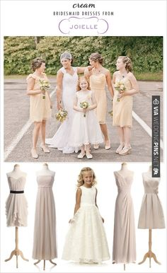 cream bridesmaid dresses | CHECK OUT MORE IDEAS AT WEDDINGPINS.NET | #bridesmaids