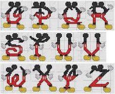 Resultado de imagen de abecedario punto de cruz bebe