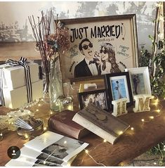 大人っぽくシンプルに♩ウェルカムスペースの装飾デザイン集 | marry[マリー] Wedding Photo Table, Wedding Photos, Wedding Letters, Wedding Cards, Wedding Registration Table, Wedding Welcome Board, Welcome Table, Wedding Doors, Wedding Reception Decorations