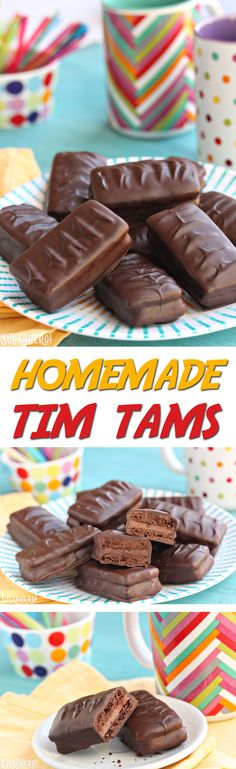 Tim Tams Homemade Tim Tams - chocolate cookies, chocolate malt frosting, and a chocolate coating. It's a chocolate lover's dream come true! Chocolate Malt, Chocolate Lovers, Chocolate Cookies, Chocolate Biscuits, Chocolate Chocolate, Chocolate Frosting, Homemade Chocolate, Aussie Food, Australian Food