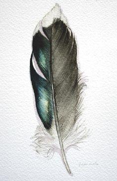 selbstklebende Sticker Aquarell Vögel der Serie DECOR